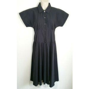 ZARA Women Midi Contrasting Shirt Dress 2531E1
